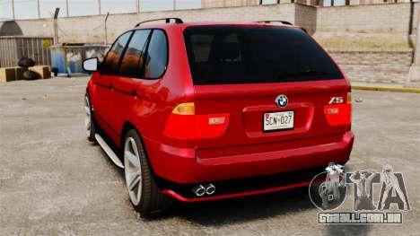 BMW X5 4.8iS v3 para GTA 4 traseira esquerda vista