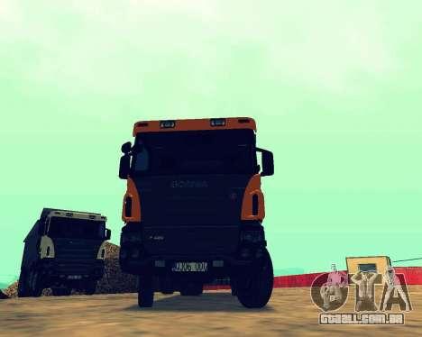 Scania P420 8X4 Dump Truck para GTA San Andreas vista traseira