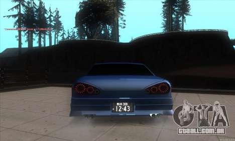 Elegy awesome D.edition para GTA San Andreas traseira esquerda vista