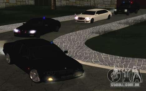 BMW 750iL E38 com luzes piscando para GTA San Andreas vista traseira