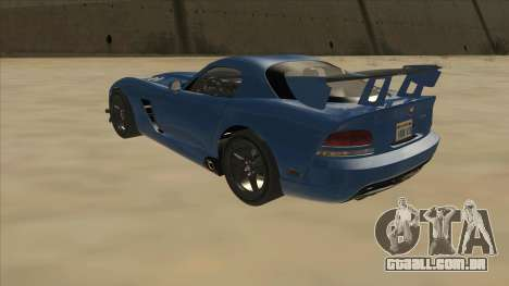 Dodge Viper SRT-10 ACR TT Black Revel para GTA San Andreas vista traseira