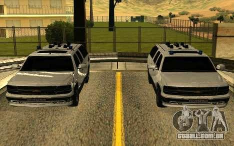 Chevrolet Suburban para GTA San Andreas vista superior
