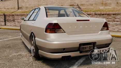 Feroci Drift Spec para GTA 4 traseira esquerda vista