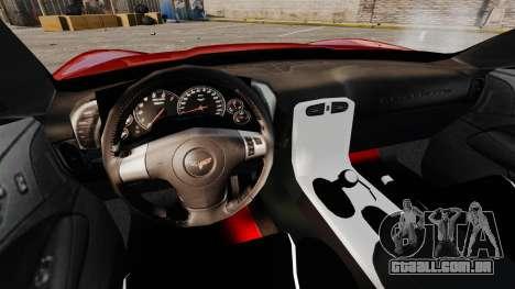 Chevrolet Corvette Z06 para GTA 4 vista de volta