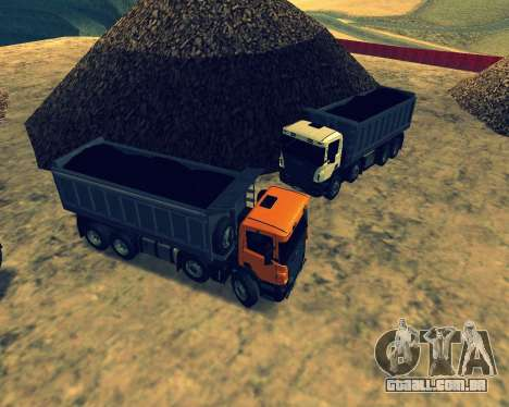 Scania P420 8X4 Dump Truck para GTA San Andreas vista inferior