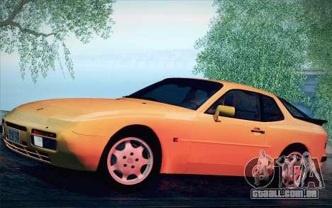 Porsche 944 Turbo Coupe 1985 para GTA San Andreas vista traseira