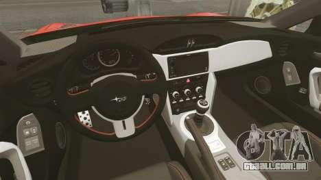 Subaru BRZ Rocket Bunny Aero Kit Hoonigan para GTA 4 vista interior