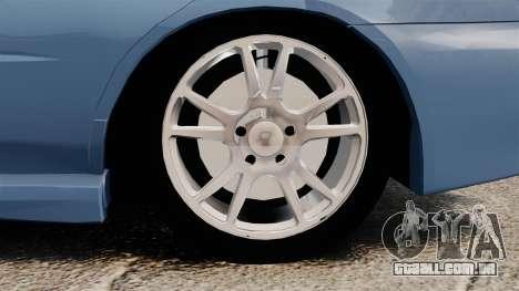 Subaru Impreza WRX 2001 para GTA 4 vista de volta