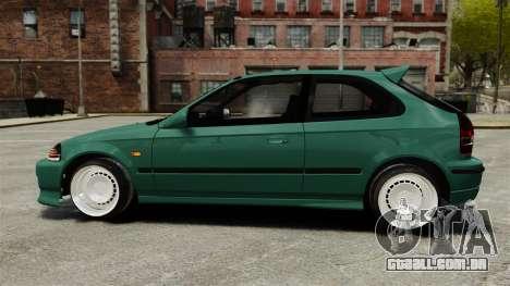 Honda Civic Al Sana para GTA 4 esquerda vista