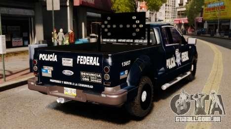 Ford F-150 De La Policia Federal [ELS & EPM] v2 para GTA 4 traseira esquerda vista