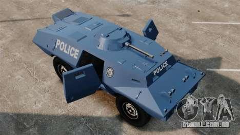 S.W.A.T. Police Van para GTA 4 vista de volta