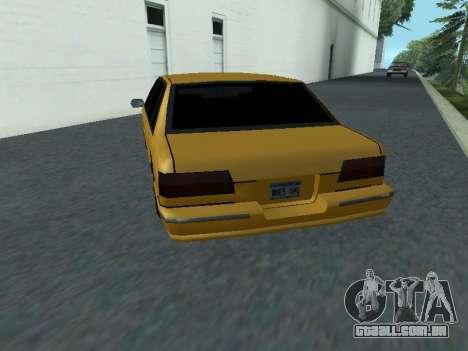 Premier para GTA San Andreas traseira esquerda vista
