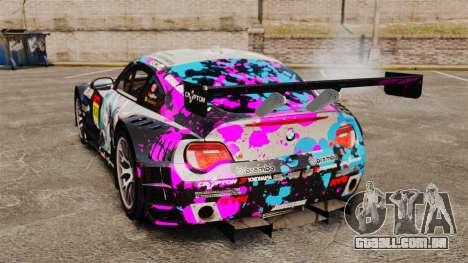 BMW Z4 M Coupe GT Miku para GTA 4 vista direita