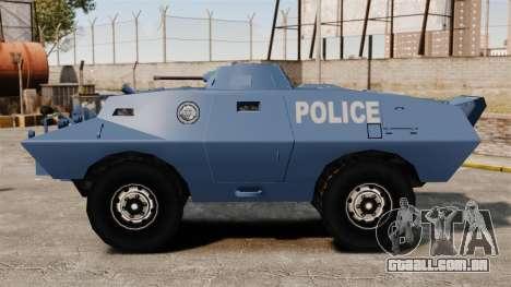 S.W.A.T. Police Van para GTA 4 esquerda vista