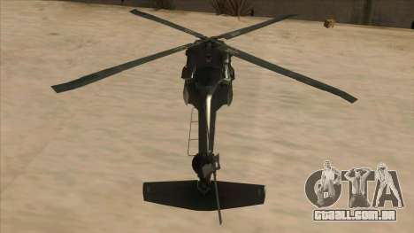 Sikorsky UH-60L Black Hawk Mexican Air Force para GTA San Andreas vista interior