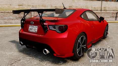 Subaru BRZ Rocket Bunny Aero Kit Hoonigan para GTA 4 traseira esquerda vista