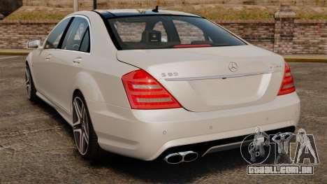 Mercedes-Benz S65 W221 AMG Stock v1.2 para GTA 4 traseira esquerda vista