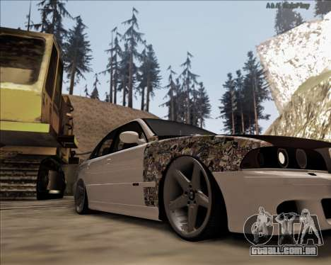 BMW M5 E39 Stanced para GTA San Andreas esquerda vista