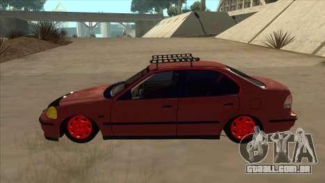 Honda Civic V2 BKModifiye para GTA San Andreas traseira esquerda vista