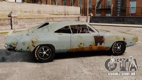 Dodge Charger RT 1969 enferrujado v 1.1 para GTA 4 esquerda vista