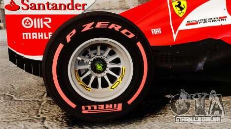 Ferrari F138 2013 v6 para GTA 4 vista de volta