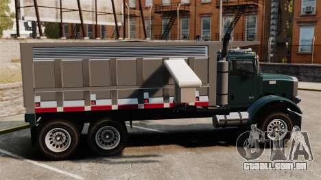 Novo caminhão Biff para GTA 4 esquerda vista