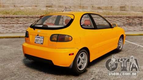 Daewoo Lanos Sport US 2001 para GTA 4 traseira esquerda vista