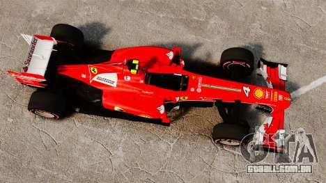 Ferrari F138 2013 v6 para GTA 4 vista direita
