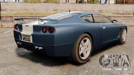 GT Super atualizado para GTA 4 traseira esquerda vista