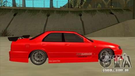Nissan Skyline ER34 JDMGarage para GTA San Andreas traseira esquerda vista