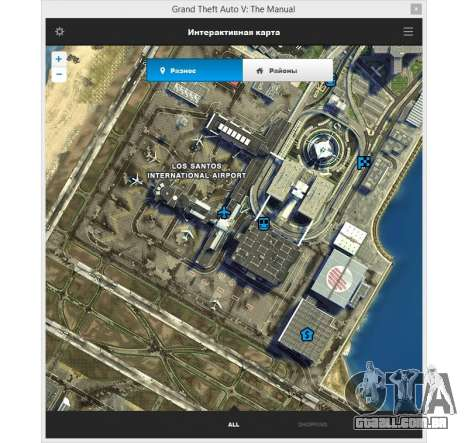 GTA 5 GTA v: Manual: o mapa interativo da área segundo screenshot