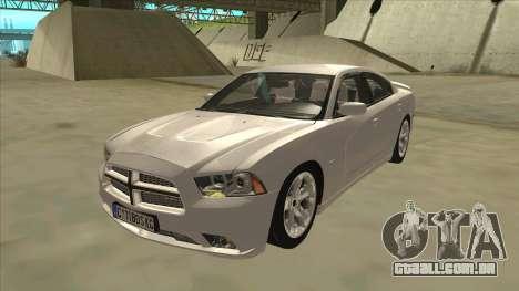 Dodge Charger RT 2011 V2.0 para GTA San Andreas