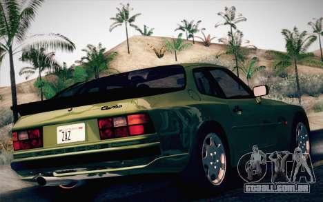 Porsche 944 Turbo Coupe 1985 para GTA San Andreas esquerda vista