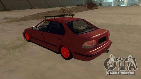 Honda Civic V2 BKModifiye para GTA San Andreas vista traseira