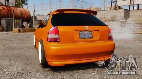 Honda Civic Gtaciyiz 2 para GTA 4 traseira esquerda vista