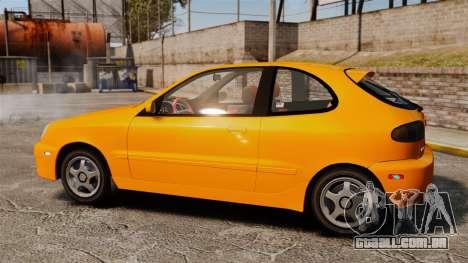 Daewoo Lanos Sport US 2001 para GTA 4 esquerda vista