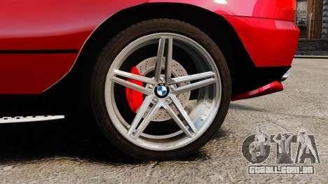 BMW X5 4.8iS v3 para GTA 4 vista de volta