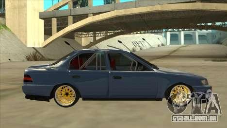 Toyota Corolla 1.6 1997 Hellaflush para GTA San Andreas traseira esquerda vista