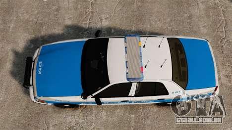 Ford Crown Victoria Police Massachusetts ELS para GTA 4 vista direita