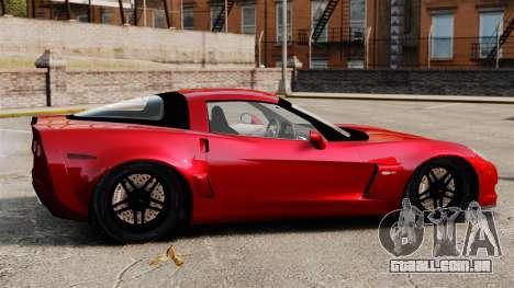 Chevrolet Corvette Z06 para GTA 4 esquerda vista
