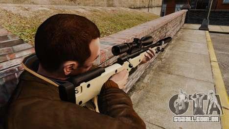 Rifle de sniper L115A1 AW com um silenciador v2 para GTA 4 segundo screenshot