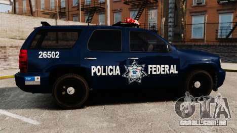 Chevrolet Tahoe 2007 De La Policia Federal [ELS] para GTA 4 esquerda vista