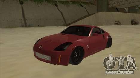 Nissan 350Z JDM para GTA San Andreas