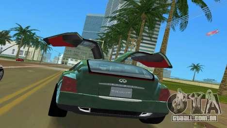 Infiniti Triant para GTA Vice City vista interior
