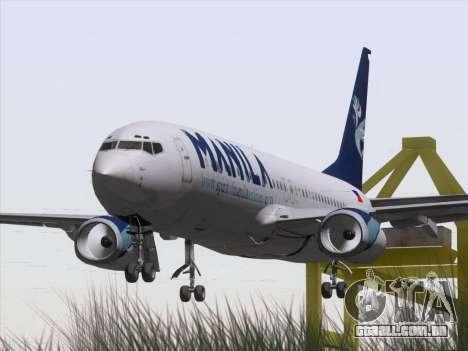 Boeing 737-800 Spirit of Manila Airlines para GTA San Andreas vista traseira
