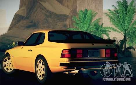 Porsche 944 Turbo Coupe 1985 para GTA San Andreas vista direita