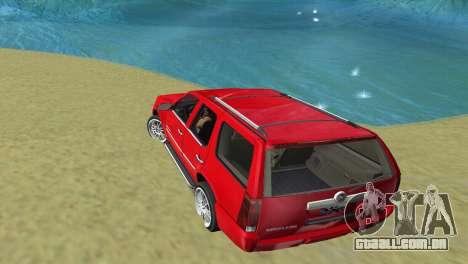 Cadillac Escalade para GTA Vice City vista direita