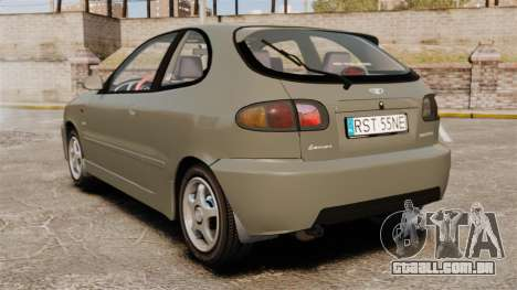 Daewoo Lanos Sport PL 2000 para GTA 4 traseira esquerda vista