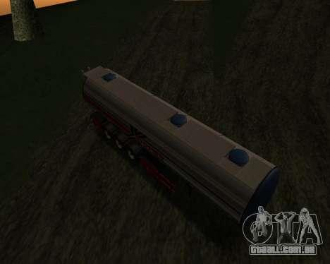 Semi-reboque Container Xoomer para GTA San Andreas vista direita