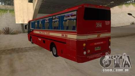 Bagong Lipunan Transit BM 384 para GTA San Andreas vista traseira